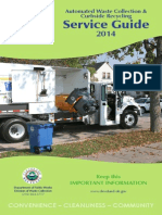 City of Cleveland Residential Waste and Recycling Collection Service Guide - 2014