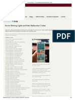 Aircon Blinking Light & Malfunction Codes