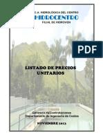 PARTIDAS HIDROCENTRO
