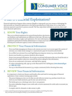 Assisted Living Facility Consumer Fact Sheet Financial Exploitation