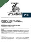 Historia y Epistemologia de Las Ciencias