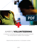 A study on volunteering as pathway to social inclusion for young asylum seekers and refugees