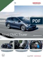 Nová Honda Civic Tourer - cenník marec 2014