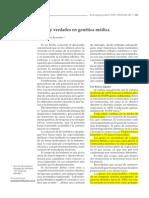 Español Mitos y verdades en genética médica