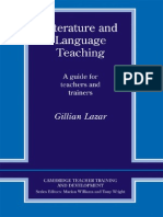 Gillian Lazar Literature and Language Teaching a Guide for Teachers and Trainers 1993 (1)