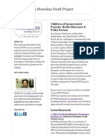 The California Homeless Youth Project - Feb 2014 Newsletter