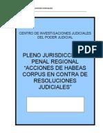Pleno Habeas Corpus Contra Resoluiones Judiciales