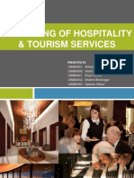 Marketing of Hospitality & Tourism Services