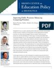 Improving Public Pensions Balancing Competing Priorities