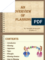 Overwiew of Planning