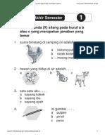 [Www.banksoal.web.Id] Soal SD Kelas 1 - Bahasa Indonesia - Try Out Ujian Akhir Semester (UAS) I Oleh Muhamad Jaruki