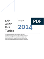 ABAP Unit Test Driven Development