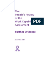The People's Review of the Work Capability Assessment - Further Evidence