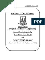 4.75 S.E. Electrical Engineering syllabus of mumbai university