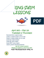 WCCPR Spring Swim Lessons 2014