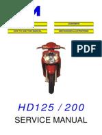 SYM HD200 Service Manual