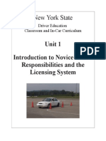 1 nysdtsea unit 1 introduction to novice driver responsibilities and the licensing system