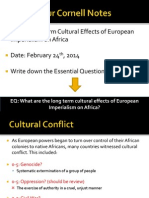 WebNotes - 2014 - Part II - Long Term Cultural Effects of African Colonization