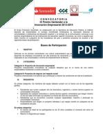 Convocatoria 2014 Premio Santander