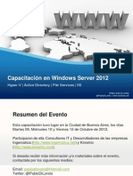 Capacitacion en Windows Server 2012 2012 10