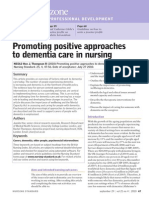 Promoting Positive Approaches to Dementia Care in Nursing