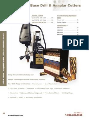 Viking Drill Spira-Broach Annular Cutter Type 15 For M42 Cobalt Cutters Gold Finish Super Cobalt Steel