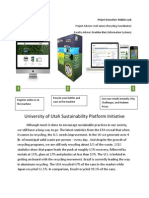University of Utah Sustainability Platform Initiative