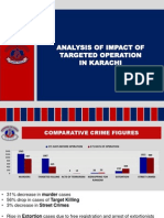 Analysis of impact of targeted operation in Karachi
