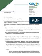 2014-02-26 Wahlprüfsteine Agenda Kultur - Statement CSU OV Münsing