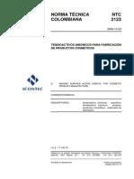 Tensoactivos Anionicos Cosmeticos NTC2123-2