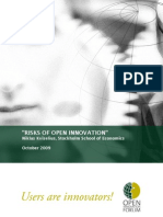 Kviselius N.Z. (2009). Risks of Open Innovation