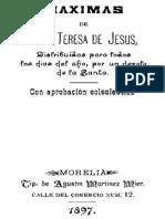 Maximas de Santa Teresa de Jesus