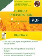 Budget Preparation