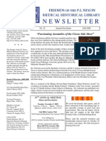Friends of the P. I. Nixon Medical Historical Library Newsletter 2009