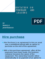 Presentation on Hire Purchase and Leasing