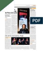 Paco De Lucía en Carnegie Hall en 07
