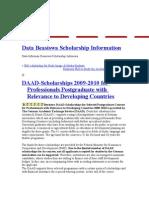 Data Beasiswa Scholarship Information