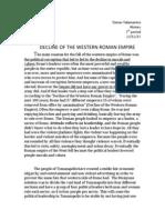 decline of the western roman empire
