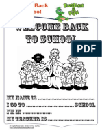 Welcome Back to School - Activities