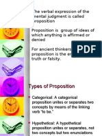 Propositions and Syllogisms