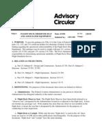 Flight Deck Observer Seat and Associated Equipment