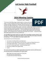 Milford Junior High Football 2014 Update (2)