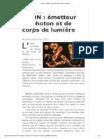 L'ADN _ émetteur de photon et de corps de lumière