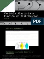 Variable Aleatoria y Función de Distribución