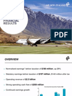 Air New Zealand's 2014 Interim Results