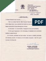 West Certificate.