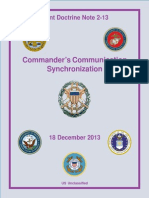 Joint Doctrine Note 2-13 Commander's Communication Synchronization (2013)