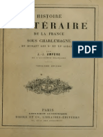 Ampere Jean-Jacques - Histoire Litteraire de La France Sous Charlemagne