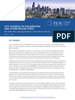 City Councils in Philadelphia And Other Major Cities