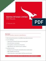 Qantas 2013/14 Half-Year Results - Investor Presentation